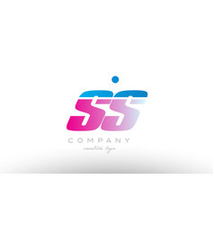 ss s s alphabet letter combination pink blue bold vector image vector image