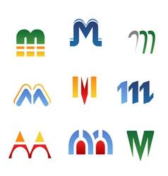 alphabet symbols vector image