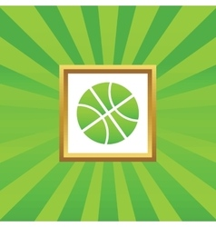 Basketball picture icon vector image