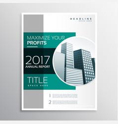 Company annual report business brochure design vector