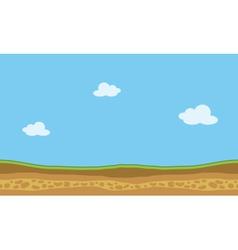 landscape nature game backgrounds vector image