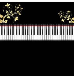 piano with ornament vector image