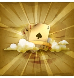 Playing Cards old style background vector image