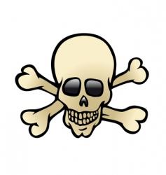 skull crossbones vector image vector image