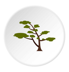 tree with crown icon circle vector image vector image