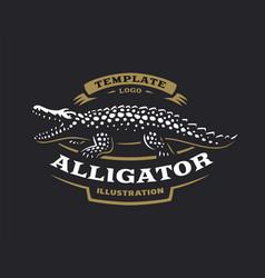 crocodile logo - alligator vector image vector image