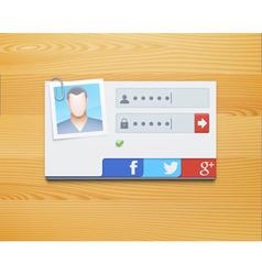 login screen concept vector image