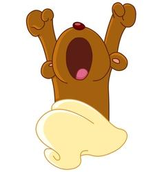 teddy bear waking up vector image