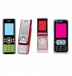 4 cellphones vector image