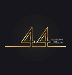 44 years anniversary vector image