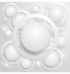 Abstract Circles With Shadows vector