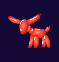 animal donkey balloons balloon animals for vector image