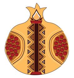 Armenian pomegranate or color vector
