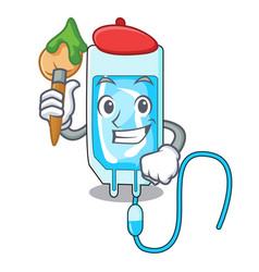 Artist infussion bottle character cartoon vector
