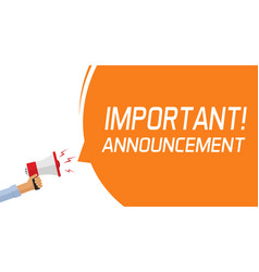 Attention important information message banner vector