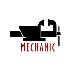 Bench vice with open jaws vector image
