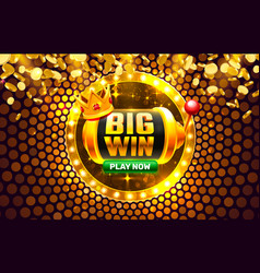 Big win casino coin cash machine play now vector
