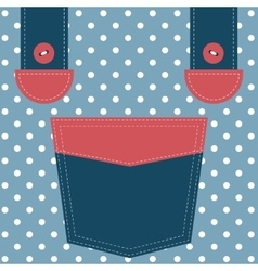 blue pocket and suspenders vector image