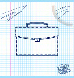 briefcase line sketch icon isolated on white vector image
