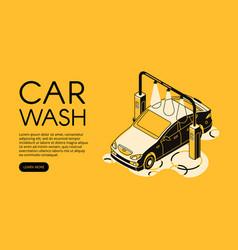 car wash service halftone vector image