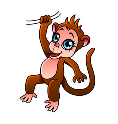 Cartoon monkey isolated vector