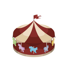 children carousel isometric vector image