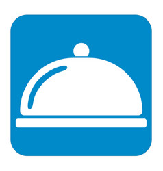 cloche icon simple flat style vector image
