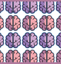 Color creative brain and mental healthy background vector