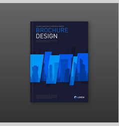 construction brochure cover design layout vector image