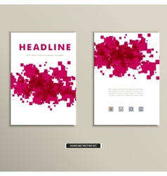 Cover book with colorful abstract spots vector