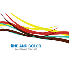 creative line colorful background design template vector image
