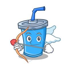 Cupid soda drink character cartoon vector