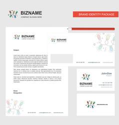 decoration lights business letterhead envelope vector image