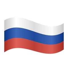 Flag russia waving vector