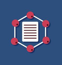 Flat icon design collection molecule and lattice vector