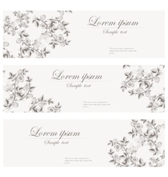 Floral banners retro style vector image