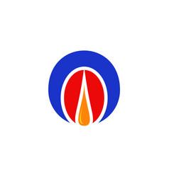 gas oil logo vector image