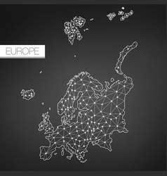 Geometric europe continent dark version clean vector