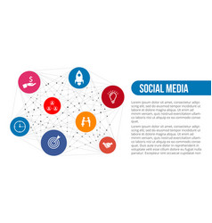 global social media concept vector image