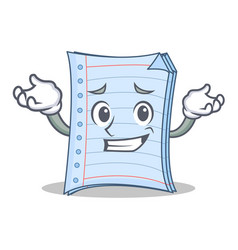 Grinning notebook character cartoon style vector