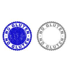 Grunge no gluten scratched stamp seals vector