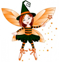halloween cute fairy vector image