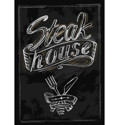 Hand drawn steak vector