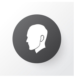 Head icon symbol premium quality isolated human vector
