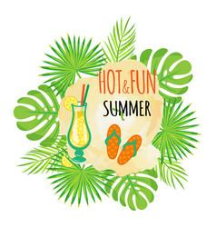 hot and fun summer flip flops sandals footwear vector image