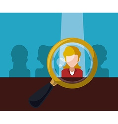 Human resources design vector image