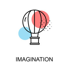 Imagination icon and ballooning on white vector
