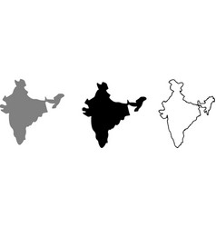 India map icon for web design isolated on white ba vector