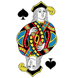 jack of spades isolated french version vector image