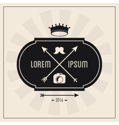 Label icon Hipster style design graphic vector image